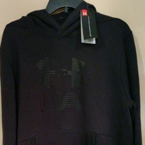 NWT Men's Under Armour Black Cold Gear Hoodie XL